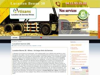 Entreprise spécialisée dans la location de bennes à Nîmes