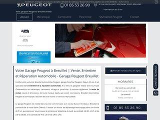 Trouver un garage Peugeot à Breuillet