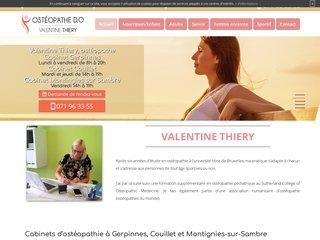 Ostéopathe Gerpinnes - Valentine Thiery