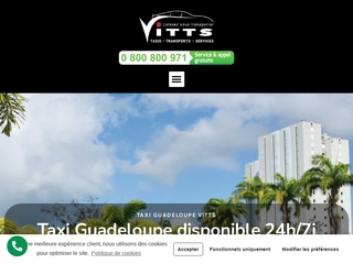 Chauffeur privé Taxi Guadeloupe - VITTS