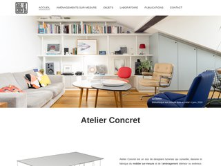 Atelier Concret dessine et fabrique votre mobilier sur-mesure