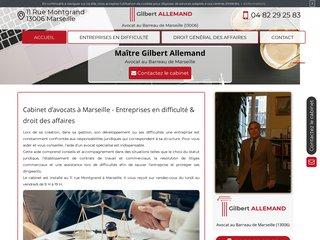 Avocat entreprises en difficultés à Marseille, Maître Gilbert Allemand