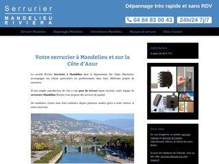Serrurier Mandelieu Riviera, entreprise de serrurerie à Mandelieu