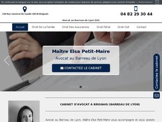 Avocat à Brignais, Maître Elsa Petit-Maire