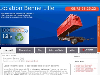 Location benne Lille