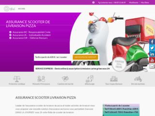 assurance scooter livraison de pizza
