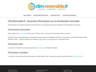 Clim-Reversible : climatisation split et mobile
