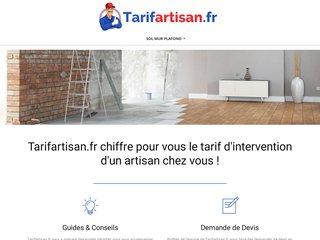 Tarifartisan : tous les tarifs et prix des artisans