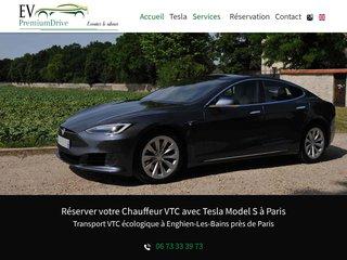 Réserver votre Chauffeur VTC avec Tesla à à Paris