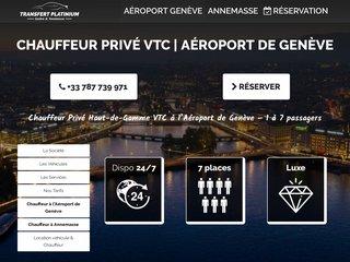 Chauffeur VTC Haut de Gamme à l'Aéroport de Genève | Transfert Platinium