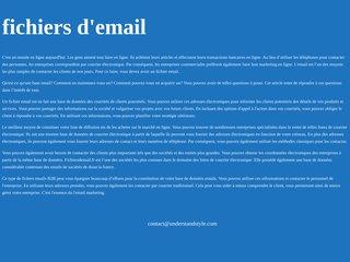 Fichier email : 30 millions d'adresses emails ciblées