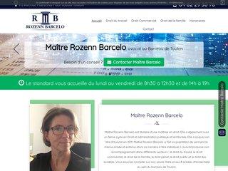 Avocat en droit du travail à Toulon, Maître Rozenn Barcelo