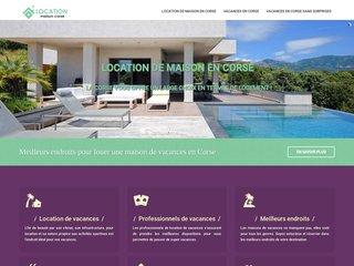 Location des maisons de vacances en Corse