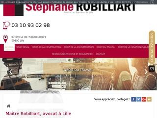 Avocat fonction publique à Lille, Maître Stéphane Robilliart