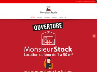 Monsieur stock : Location box de stockage, garde meubles
