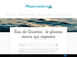 L'eau de Quinton, le plasma marin