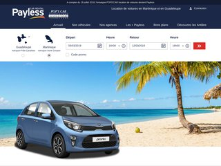 Location voiture Guadeloupe - Popscar / Payless Antilles