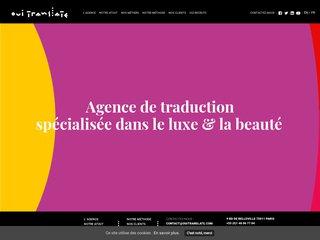 Traduction cosmétique - Oui Translate