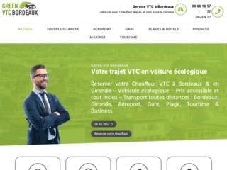 Green VTC Bordeaux : compagnie de transport de personnes VTC à Bordeaux
