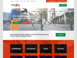 GetuP Potelet le redresse poteaux et mobilier urbain malin