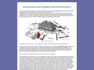 Programmes immobiliers neufs pinel