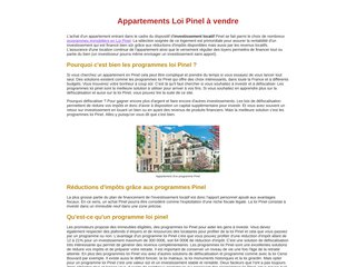 Appartements programme loi pinel