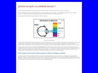 Lumière bleue : explication