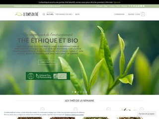 Le Temps du Thé : boutique spécialisée dans le thé bio haut de gamme.