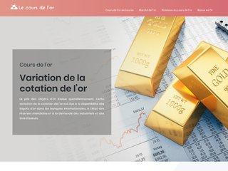 l'Or en Bourse