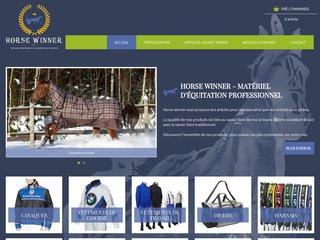 Horse Winner - vente en ligne  de matériel d'équitation professionnel