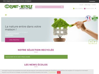 Esprit Recycle : produit écologique