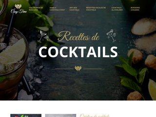 Portail dédié aux recettes de cocktails