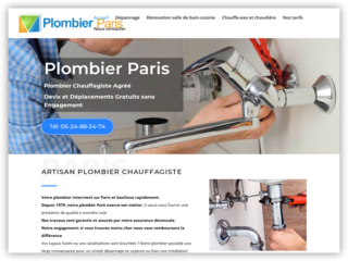 dépannage plomberie Paris