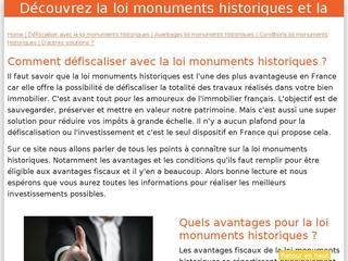 Loi monuments historiques explication