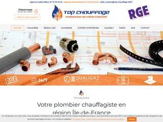 Top Chauffage, plombier chauffagiste en Ile-de-France