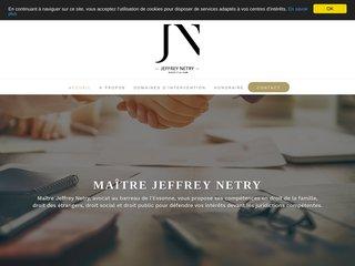Maître Jeffrey Netry, avocat à Évry