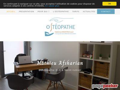 Mathieu Afsharian, ostéopathe D.O à Saint-Ismier
