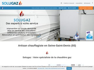 Chauffagiste : SOLUGAZ à Le Blanc Mesnil (93)