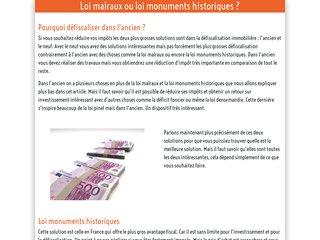 Loi monuments historiques ou loi malraux