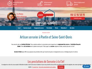 Serrurerie : Serrurier à la clef à Pantin (93)