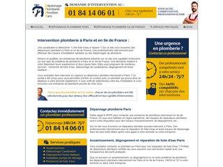Dépannage plomberie plombier paris