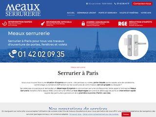 Serrurier : Meaux Serrurerie à Paris (75)