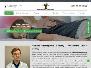 Votre cabinet d'ostéopathie à Nancy