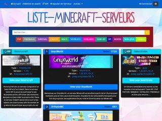 Liste de Serveurs Minecraft