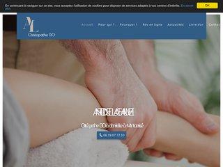 Ostéopathe D.O à domicile Montamisé