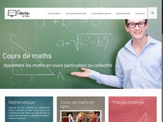 Cours de mathématiques particuliers