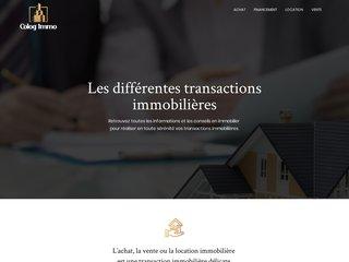 Colog Immo, les différentes transactions immobilières