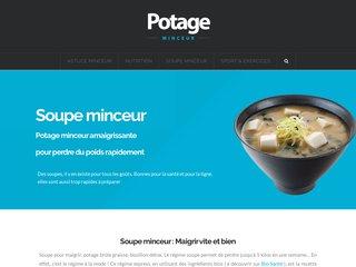 Potage Minceur: soupe  minceur pour maigrir