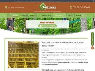 Construction en bois à Maromme (76) : accrobranche, terrasse et cabane