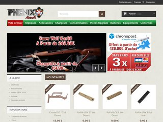 Phenixairsoft, vente de répliques airsoft